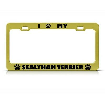 SEALYHAM TERRIER DOG ANIMAL Metal License Plate Frame Tag Holder Two Holes