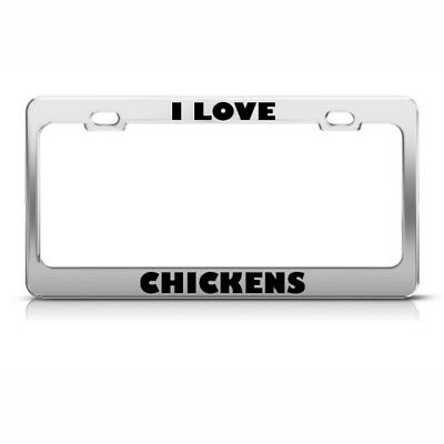 I LOVE SARASOTA FL Heavy Duty Chrome License Plate Frame Tag Border