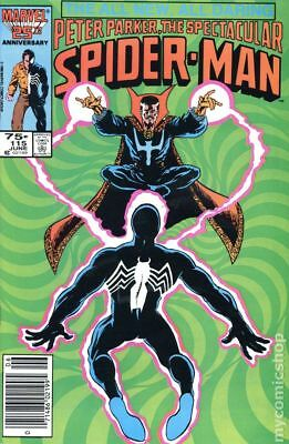 Spectacular Spider-Man (1st Series) Mark Jewelers #115MJ 1986 VG 4.0 Stock Image