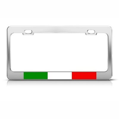 ITALIAN FLAG ITALY COUNTRY Metal License Plate Frame Tag Holder Two Holes