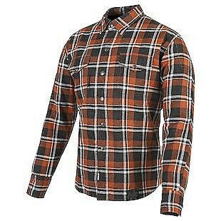 Speed & Strength Black 9 Mens Long Sleeve Button Up Shirt Orange/Black
