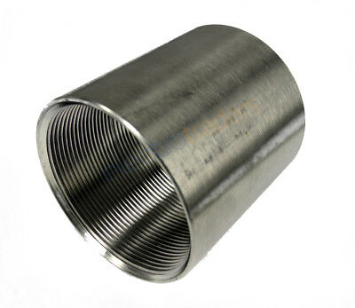 50mm Plain Threaded Stainless Steel Coupling WMI-SSPC50