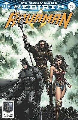 Aquaman #30 Sharp Justice League Movie Variant Rebirth Dc Comics Near Mint