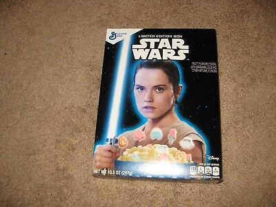 """2016 Star Wars """"the Force Awakens"""" Rey General Mills Cereal Box"""