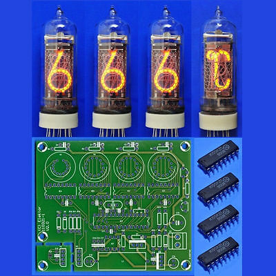 IN-14 IN-19A Nixie Röhren Treiber PCB für Elektor Thermo-/ Hygrometer tube tubes