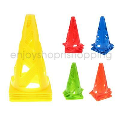 "5Pcs 9"" Soccer Agility Cone Football Basketball Rugby Dog Training Marker"