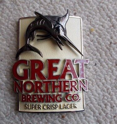 Great Northern Brewing Co . Metal Beer Decal -  Like New