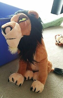 """The Lion King HUGE 18"""" SCAR Plush Stuffed Toy w Tags Disney Store Exclusive"""