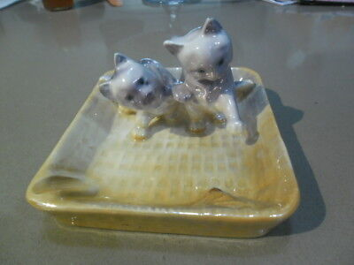 Wembley ware Kittens & mouse lustre ashtray