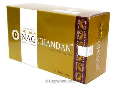 """CHANDAN"" NAG GOLDEN INCENSE STICKS BY VIJAYSHREE 15gx12 180g"