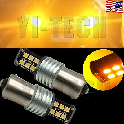 2X Amber 15-SMD 7507 LED Bulbs For BMW 1 2 3 4 Series X3 X5 Turn Signal Lights