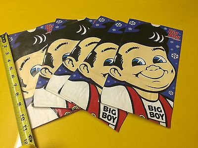"""Bobs BIGBOY -TO GO BAGS """"WINTER FUN"""" 5 UNUSED + 2- 60's RED COINS"""