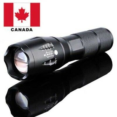 10000LM Zoomable Tactical Military LED 18650 Flashlight Torch Lamp Light Canada