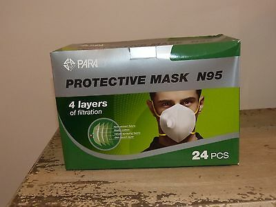 Unit of 24 x Protective filtration masks N95