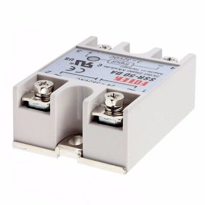 Solid State Relay SSR-50DA 3-32V DC 50A/250V Output 24-380VAC Adapter With Cover