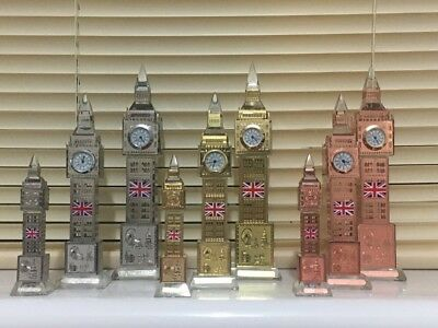 Glass Working Big Ben Clock Coloured Lights London Souvenir Ornament Xmas Gift