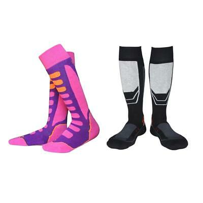 2 Pair Outdoor Long High Performance Ski Snowboard Thermal Socks Kids Adults