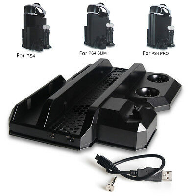 Slim VR PS Move Controller Charge Stand Dock Showcase Charging Station For PS4