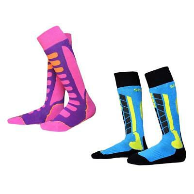 2 Pair Youth Sport Skiing Ski Hiking Snow Long Thermal Socks