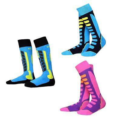 3 Pairs Kids Girls Winter Thermal Long Ski Snowboard Cycling Sports Socks