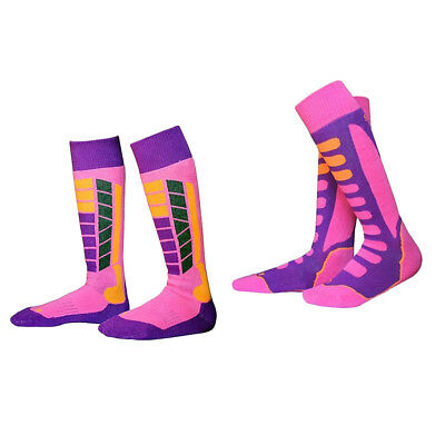 2 Pair Kids Child PINK Soft High Performance Ski Socks Snowboard