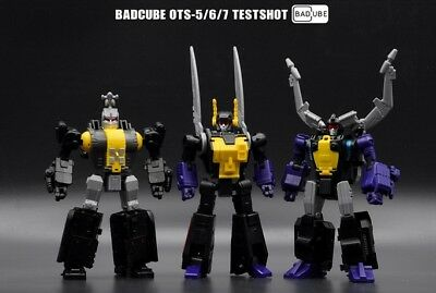 New BadCube Toy Transformers BC OTS-5/6/7 Testshot Insecticons In Stock