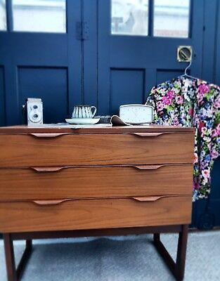 Mid Century Chest Drawers Teak Style Europa Danish Courier Possible