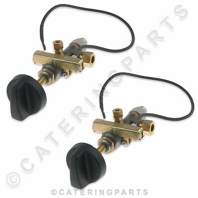 PACK 2 x 8mm NAT LPG MULTI GAS VALVES TAP C/W PILOT OUTLET & BUILT IN IGNITOR