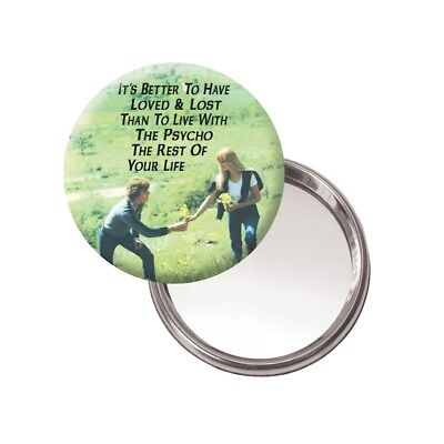 Humour 'It's Better To Have Loved' Novelty Button Mirror Compact Retro Vintage