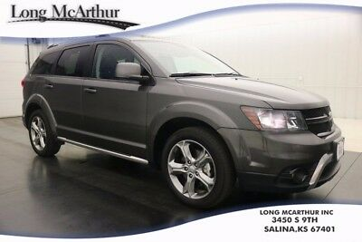 2016 Dodge Journey AWD CROSSROAD LEATHER TOUCH SCREEN PREMIUM SUV $31900 MSRP ONE OWNER! CLEAN AUTOCHECK, SIRIUS SATELLITE, ROOF RACK RAILS ONLY, ALLOY WHEELS