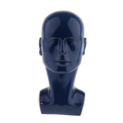 Male Gloss Mannequin Head Wig Hat Headphone Glasses Jewelry Display Model