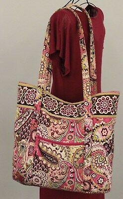 VERA BRADLEY Very Berry Paisley Quilted Baby Tote Shoulder Diaper Bag - Retired