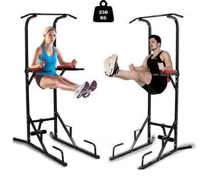 Fitness Power Tower Dip Pull Up Chin Up Bar Workout Station Home Gym Exercise
