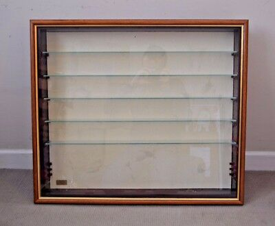 Wooden Wall Mounted Display Case Cabinet for Model Trains W 75cm x H 65cm #F