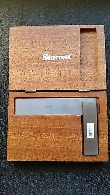 "Used Starrett #20 Machinist square  4 1/2"" with Wood Storage Box"