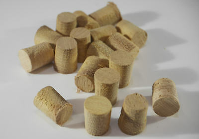 "Iroko Hardwood Plugs - Various Sizes - 8mm - 50mm & 1/2"" -  Tapered Pellets"