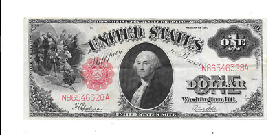 1917 $1 Large Red Seal United States Legal Tender