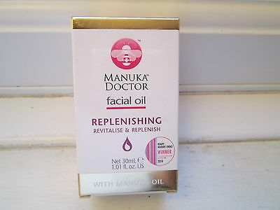 4 x Manuka Doctor REPLENISHING Facial Oil With Manuka Oil NEW/BOXED (REF A36)