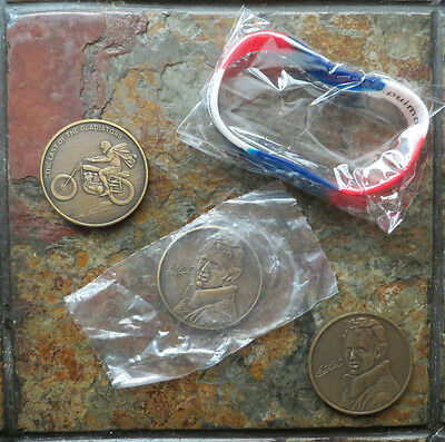 EVEL KNIEVEL 1974 ORIGINAL '72 BRONZE COIN from SNAKE RIVER CANYON BLOWOUT SALE!