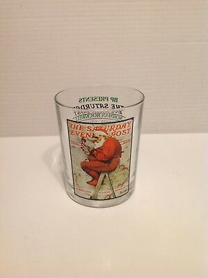 Vintage Saturday Evening Post Drinking Glass Norman Rockwell RARE