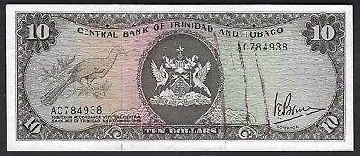 Trinidad and Tobago P-32 1964  $10 Dollars Choice UNC roller ink on obverse