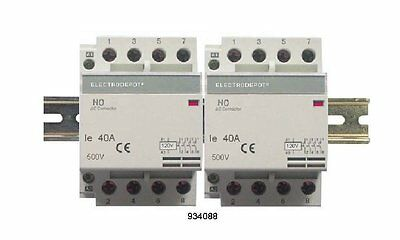 Lighting Contactor 8 NO Pole 4x2, 40Amp 120V coil AC 30a 40a OPEN IEC DIN rail