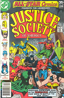ALL STAR COMICS feat JUSTICE SOCIETY OF AMERICA 69-73 VOL 13-14 1977-8 - RARE