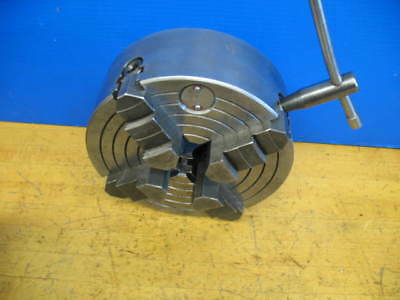 """8"""" 4 Jaw Independent Lathe  Chuck D1-4 Mount ***vgc*** Heavy Duty!!!"""