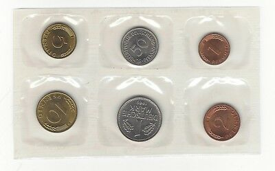 Germany Six 6 Piece Coin Set 1969 German Coins