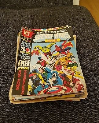 Comic collection 33 issues Marvel UK. Indies
