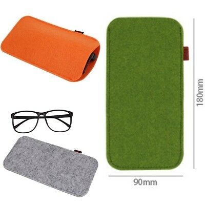New Useful Soft Felt Sunglasses Eyeglasses Sleeve Glasses Pouch Case Makeup Bag