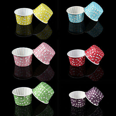 20Pcs Mini Paper Cake Cup Liners Baking Cupcake Cases Muffin Cake Colorful Best*