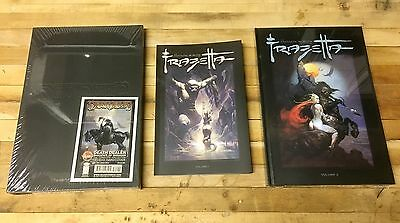 Frank Frazetta Death Dealer, Fantastic Worlds Volumes 1&2 Hardcover TPB set HC