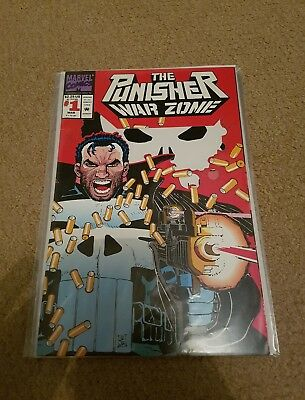 Punisher war zone 1 nm classic die cut cover super hot